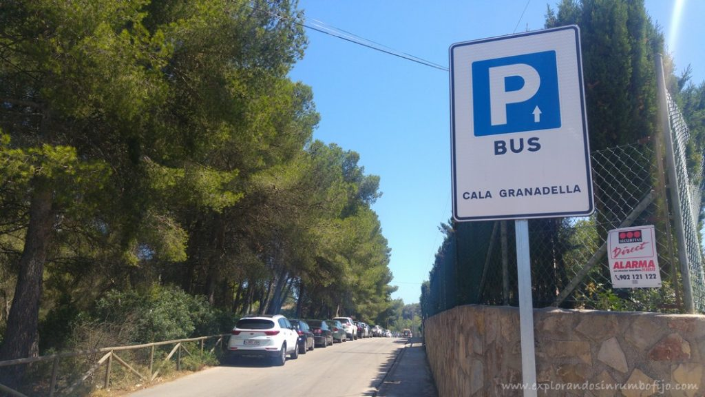 Parking Autobus Granadella Xabia