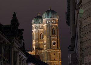 catedral munich noche
