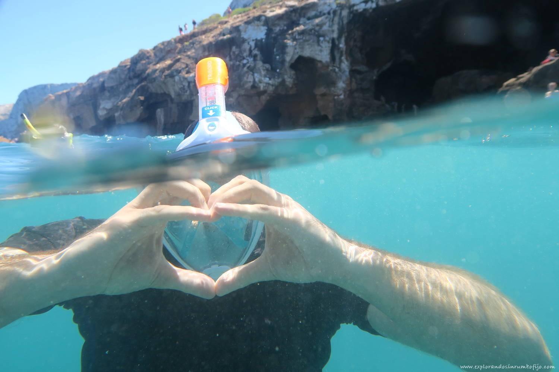snorkel cova tallada