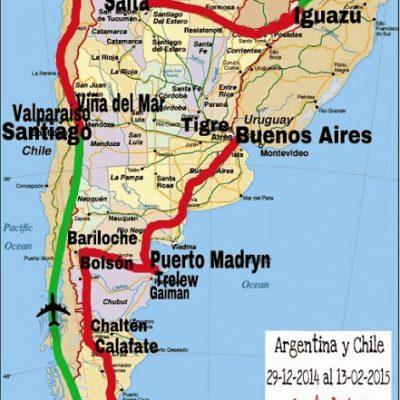Ruta: Argentina y Chile