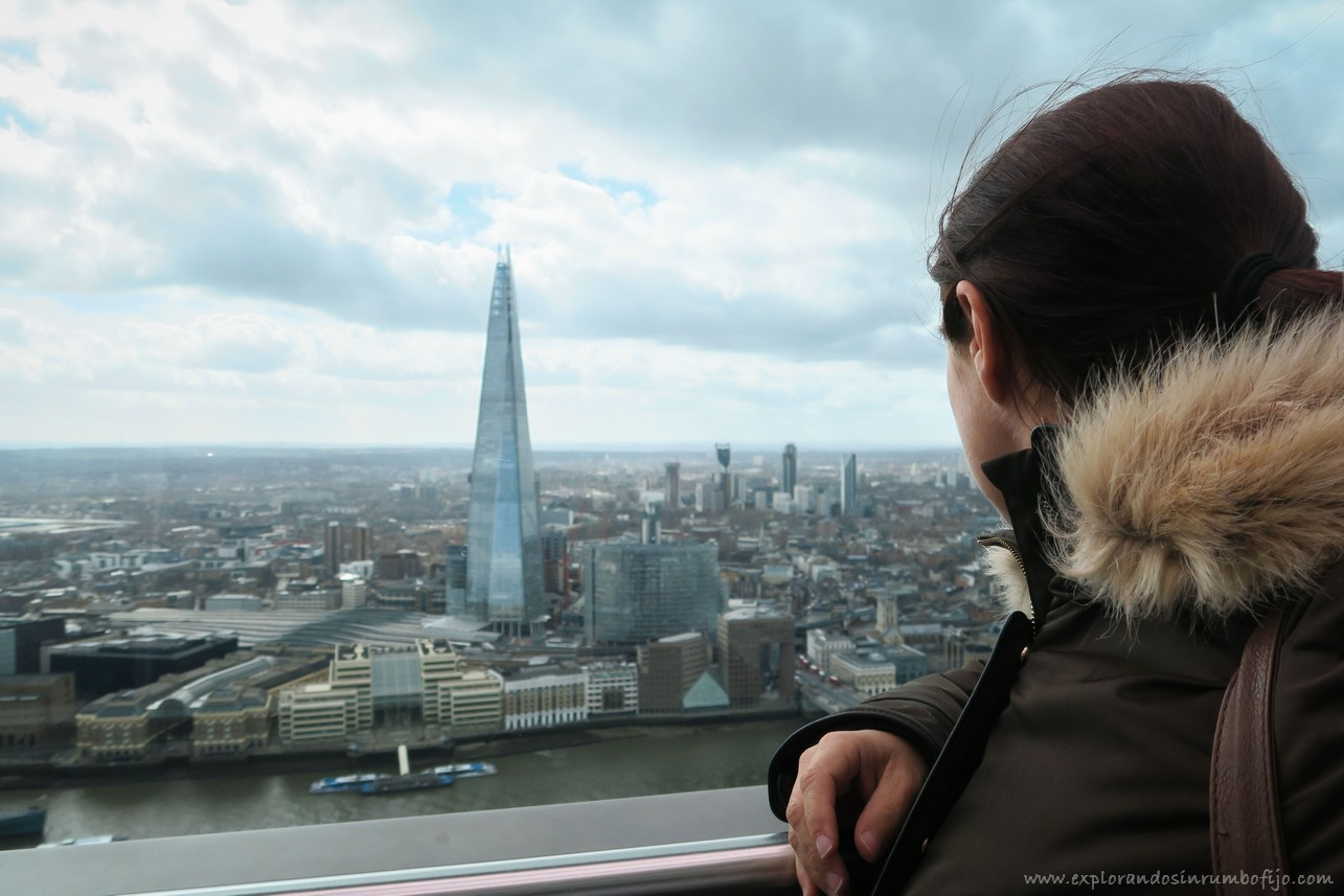 the shard desde sky Garden