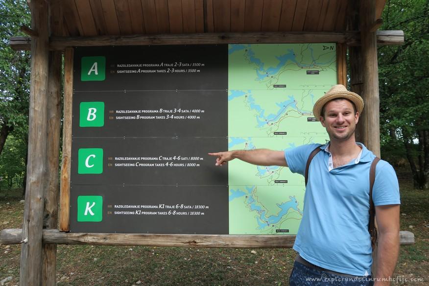 mapa recorridos lagos plitvice