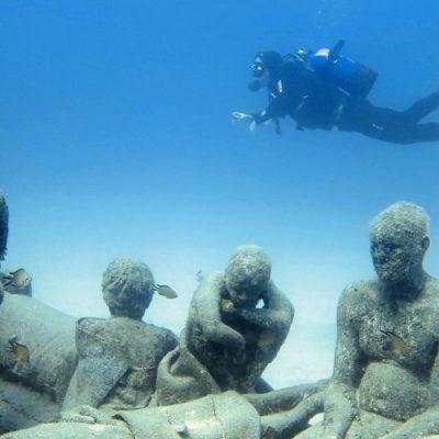 Buceando en el Museo Atlántico de Lanzarote
