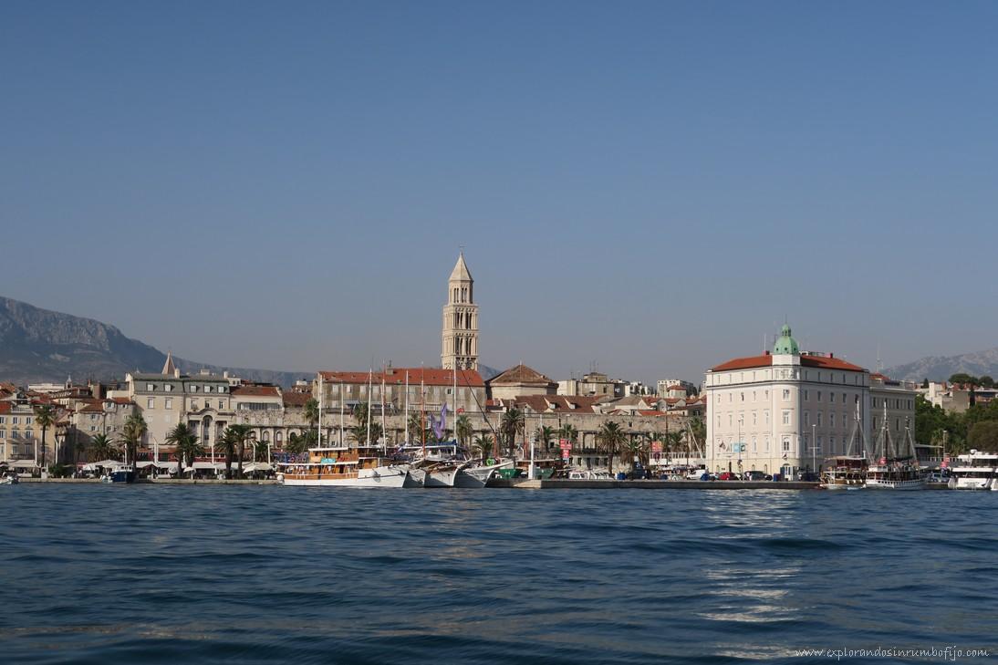 Vistas de Split desde barco